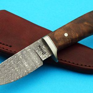 fixed custom knife Gordon Graham, Damascus Hunter, Hunter, Journeyman Smith Robertson's Custom Cutlery damascus hunters fixed blade