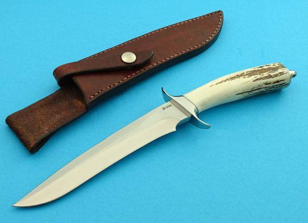 Jim Siska Custom Knife, Presentation Sambar Stag M16 Fighter,
