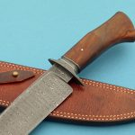 fixed custom knives Josh Fisher damascus camp knife handle Robertson's Custom Cutlery damascus fixed blade