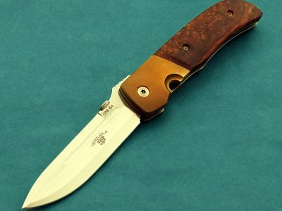 folding custom knives Bob Terzuola titanium eagle rock knife Robertson's Custom Cutlery presentation folder folding blade