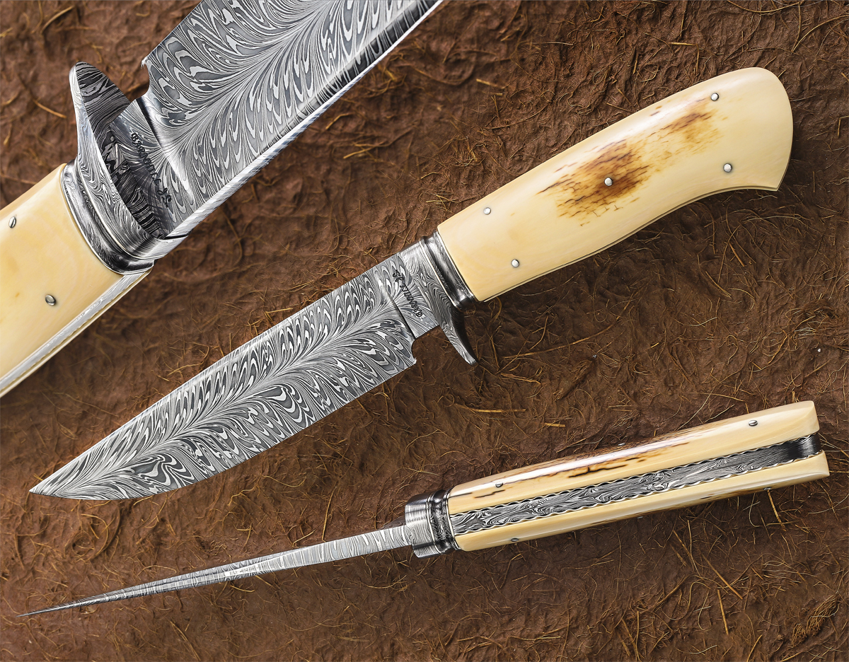Wess Barnhill Damascus Gents Fighter