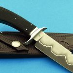 fixed custom knives Josh Fisher checkered san mai fighter knife back Robertson's Custom Cutlery presentation fixed blade