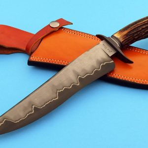 Josh Fisher Forged San Mai Stag Fighting Knife ABS Journeyman Smith Handmade Fixed Blade