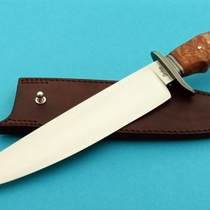 fixed custom knife Gordon Graham Maple Bowie knife Robertson's Custom Cutlery custom fixed blade