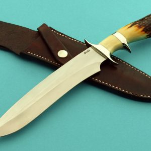 Jim-Siska-M16-Sub-Hilt-Stag-Fighter-Robertsons-Custom-Cutlery-Presentation-Fixed-Blade-Custom Knife