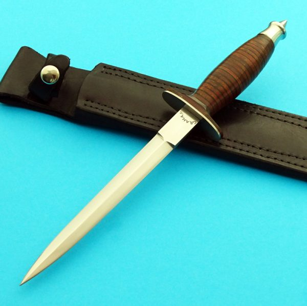 Gordon Graham V42 Dagger, Custom Forged Knife, ABS Journeyman Smith Gordon Graham custom v42 dagger back presentation fixed blade custom knife Robertson's Custom Cutlery