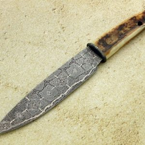Hank Knickmeyer ABS Master Smith Forged Damascus Bowie fixed custom knives Robertson's Custom Cutlery