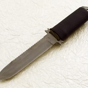 Robert Parrish Handmade Tactical Fighting Knife Custom Fixed Blade Fighter LWT serrations