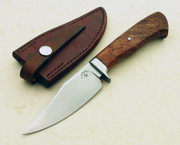 Scott Gallagher Custom Handmade Maple Burl Skinning Knife