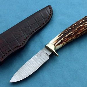 Craig Camerer Forged Damascus Mosaic Hunting Knife Forged In Fire Champion ABS Journeyman Smith