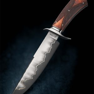 Josh Fisher Presentation Custom Fixed Blade checkered handle
