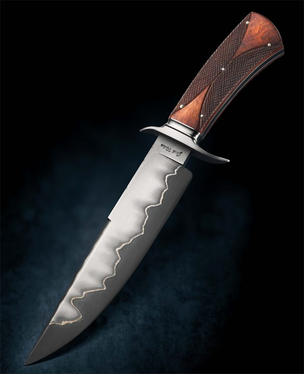 Josh Fisher Presentation Custom Fixed Blade checkered handle