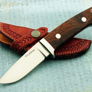Bill Androm Custom Drop Point Hunter Presentation Desert Ironwood