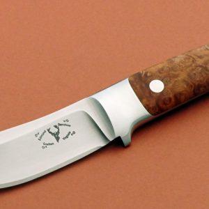 Edmund Davidson Integral Semi Skinner Custom Knife Burl
