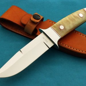 Peter Del Raso Integral Custom Handmade Fighting Knife Sheep Horn