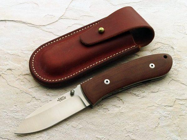 Bob Dozier Custom Made Knife DK-FHL- Large Folding Hunting Knife Titanium Frame
