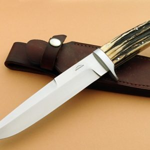Schuyler Lovestrand Custom F-1 Rare Stag Fighting Knife