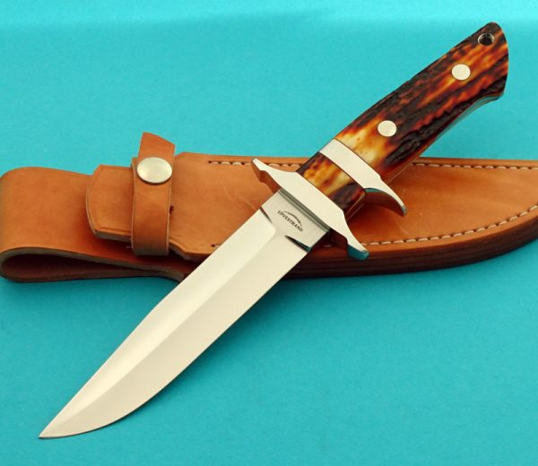 Lovestrand Jr Bear Custom Sub-Hilt Fighting Knife Handmade Stag