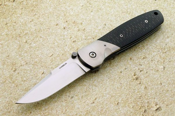 Joel Chamblin Delta III Tactical Folding Knife Custom Folder 440V Titanium