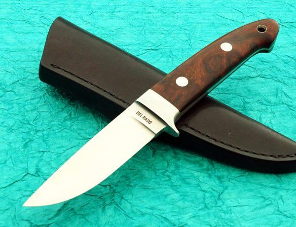Peter Del Raso Integral Drop Point Hunting Knife Custom Desert Ironwood