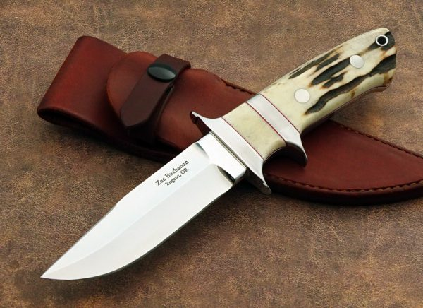 Zac Buchanan Mini Bear Sub-hilt Stag Custom Knife