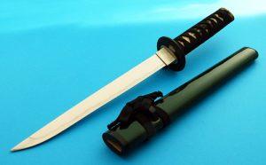 Don Polzien Yori Toshi Tanto Japanese Presentation Fighting Knife Forged San Mai Scabbard