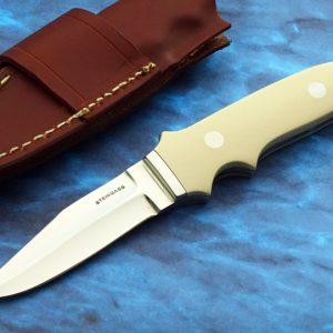 Tim Steingass New York Special Ivory Micarta Custom Knife