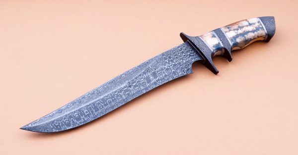 David Broadwell Forged Damascus Sub-Hilt Ivory