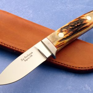Zac Buchanan Stag Drop Point Hunter Custom Knife
