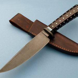 Bradshaw Custom knife Small Bowie Twist Pattern Forged Damascus ABS Master Smith