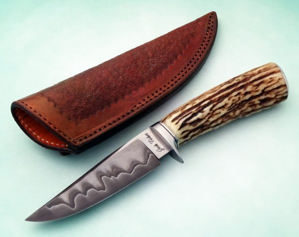 Josh Fisher ABS Journeyman Smith Forged Custom San Mai Stag Hunter