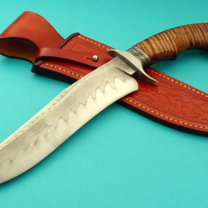 Ben Breda Forged Recurve Koa Bowie ABS Journeyman Smith Hamon Custom Knife