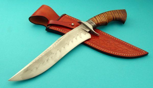 Ben Breda Forged Recurve Koa Bowie ABS Journeyman Smith Hamon Custom Knife