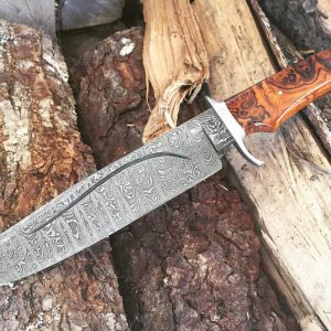 Greg Keith Forged Custom Damascus Bowie