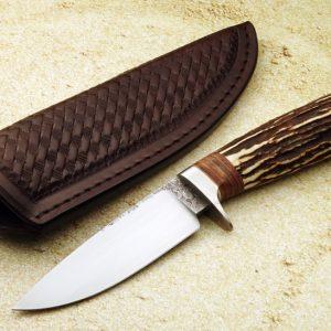 Milan Mozolic Sterile Hunting Knife Custom Sambar Stag