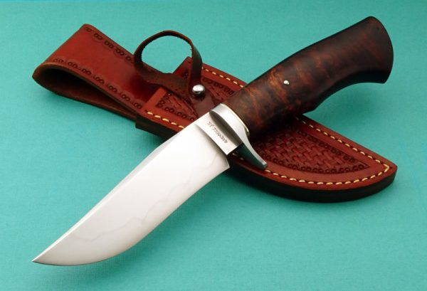 Wess Barnhill Forged Hunting Knife Custom Hamon Desert Ironwood