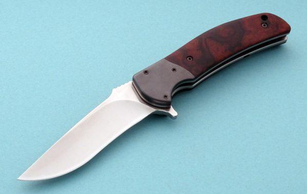 RJ Martin Q36 Desert Ironwood Prestentation Tactical Folding Knife Flipper