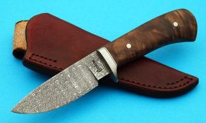 Gordon Graham Damascus Hunter Forged Custom Knife