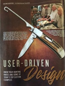 Blade Magazine Article User Driven Design Oct. 2019
