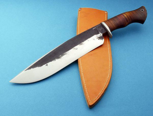 Jason Knight Custom forged Camp Knife ABS Master Smith Maple