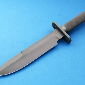 Robert Parrish Custom Survivor Hollow Handle Knife Serrations Tactical Fixed Blade Bead Blasted