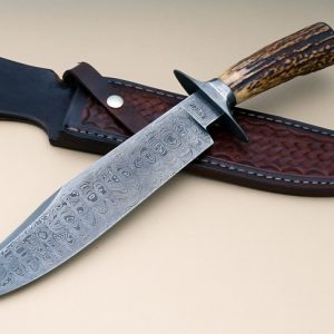 Ricardo Vilar Vaquero Forged Damascus Bowie Stag ABS Journeyman Smith