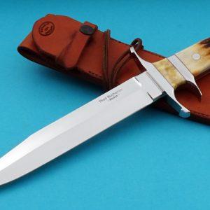 Thad Buchanan Big Bear Sub-Hilt Fighter Custom Knife Stag