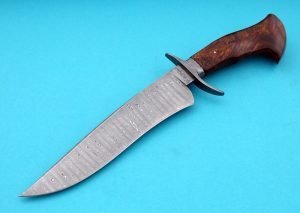Paul DiStefano forged damascus bowie desert ironwood ABS Journeyman Smith