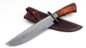 Charles Carpenter Damascus Bowie Desert Ironwood Custom Knife