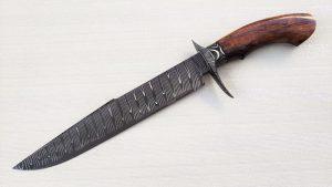 Chistian Silva Forged San Mai Bowie Custom Knife Desert Ironwood Argentina