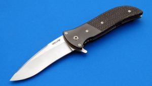 Chew-Zirconium Cujo Tactical Flipper Folding Knife Custom Folder Silver Lightning Strike Carbon Fiber
