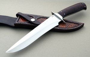 Jim Siska Custom M16 Cocbolo Fighting Knife Clean lines Great knife maker!