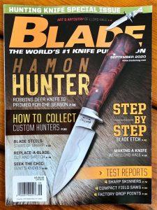 Blade Magazine Custom Hunting Knives Article Les Robertson September 2020 Skinner