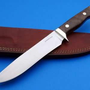 Tim Steingass Black Thunder Jr. Camp Bowie Knife English Walnut